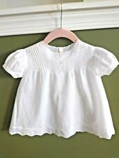 White Hand Made & Embroirdered Baby Dress, Vintage, Made In Phillipines