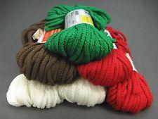 NEW Vintage 80's Macrame Yarn Maxi Cord Braided Herculon 50 yds LOT of 6 Skeins