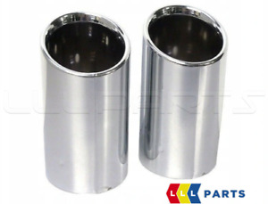 NEW GENUINE AUDI A4 A5 8W EXHAUST TAIL PIPE TIP TRIM BOTH SIDES SET 8W0071762