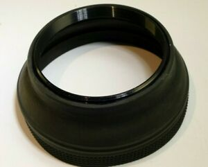 58mm Rubber Lens Hood Shade Collapsible double threaded
