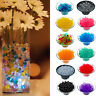 500 Water Beads Clear Aqua Gel Crystals Bio Gel Ball Wedding Vase Centrepiece