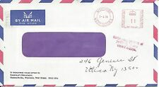 GREAT BRITAIN - METER COVER MAILED FROM WORTHING, WEST SUSSEX 1978