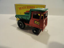 MATCHBOX LESNEY #2c Muir Hill Dumper - Black Plastic Wheels - MIB RARE