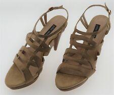 Ms004157 pilar abril Arabella señora sandalias de cuero marrón UE 40