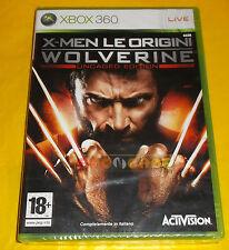 X-MEN LE ORIGINI WOLVERINE XBOX 360 Versione Italiana 1ª Ediz ○○ NUOVO SIGILLATO
