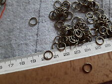 DIY 30 anillas color bronce 8 mm x 0,7mm abalorios fornituras