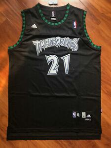 New Kevin Garnett Minnesota Timberwolves Throwback Swingman Jersey Black