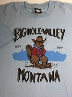 VTG Montana Big Hole Valley Graphic Shirt Screen Stars Best Beaver 80s Men's XL