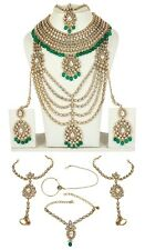 5169 Indian Bollywood Gold Plated Bridal Polki Jewelry Kundan Women Necklace Set