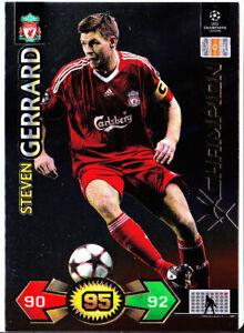 Champions League Super Strikes 09/10 Steven Gerrard Liverpool Champion