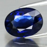 VVS 3.20ct 9.7x7.3mm Oval Natural Royal Blue Sapphire From Africa, Heated Only