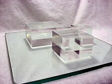 Thick Clear Acrylic Plexiglass Lucite Block Display Riser | Set of 3 Sizes | $74