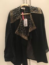 Toast Opera Black Wool Gold Embroidery Jacket Artisan Luxury