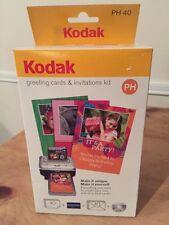 KODAK EASYSHARE PH40 GREETING CARD INVITATION PHOTO PRINTER CARTRIDGE PAPER KIT