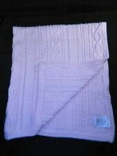 Ralph Lauren Pink Cable Knit Baby Blanket 100% Cotton Sweater Knit Design