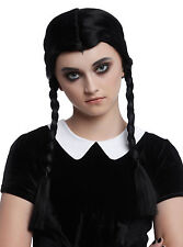 Black Braided Long Synthetic Costume Cosplay Dress Up Wig  The Addams Family NEW