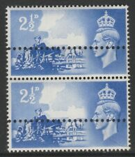 Great Britain   4747 - 1948 LIBERATION of CHANNEL ISLANDS 2.5d extra perfs  pair
