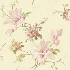 Wallpaper Magnolia Floral on Pearl Cream Background