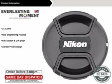 52 mm Centro Pinch Copriobiettivo per Nikon D7100/D5300 18-55 mmvrii/35mmf/1.8G/50m Lens