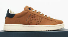 $80 NIB TOMMY HILFIGER Men's Cognac Brown Leather Low Top Sneakers Tennis Shoes