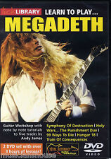 LICK LIBRARY Learn To Play MEGADETH Rock Metal Hangar 18 Lesson GUITAR DVD