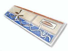 Fliesenbordüren 19,8x5,8 cm Fliesenbordüre Bad Bordüren Opale beige blau silber