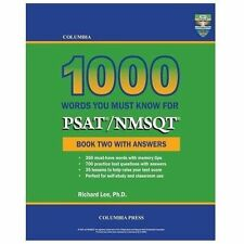 Columbia 1000 Words You Must Know for PSAT/NMSQT: Book Two with Answers (Paperba