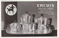 Publicité ancienne service Ercuis 1933 issue de magazine