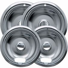 "4pc Drip Pans Bowl Set 6"" & 8"" - Frigidaire Kenmore Whirlpool Stove Range Burner"