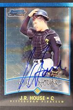 Pittsburgh Pirates J.R. House Signed 2001 Bowman Chrome Autograph Card #284 106