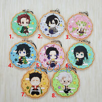 Anime Demon Slayer Kimetsu no Yaiba rubber Keychain Key Ring Race Straps cosplay