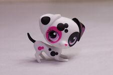 *Littlest Pet Shop* LPS #3217 White Black Pink spotted Dalmatian Dog near MINT