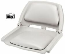 Fold Down Padded Boat Seat in Light Gray Boating Bass Fishing Marine Seat