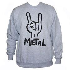 HEAVY METAL SWEATSHIRT- Funny Retro Iron Maiden Black Sabbath Printed Jumper
