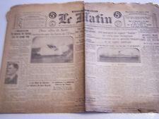 VIEUX PAPIERS , JOURNAL LE MATIN EDITION DE 5 HEURES DE 1928 . R . POINCARE ETC