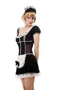 Kostüm Damen Damenkostüm Sexy Maid Hausmädchen Zimmermädchen Zofe French L063