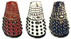 Set of Doctor Who Red White & Blue Dalek Enamel Badges Dr Sci Fi Baddies NEW