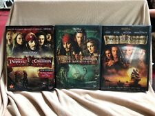 Lot- Disney's Pirates of the Caribbean Trilogy Collection 1-3 (DVD)