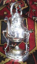 Antique Silver Plate Over Copper Victorian Over Size Coffee Pot
