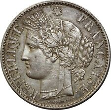 O1855 RARE 2 Francs Cérès  1872 K Bordeaux Argent Silver SUP ++++  ->Make offer
