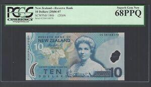 New Zealand 10 Dollars (2006) P186b Uncirculated Graded 68