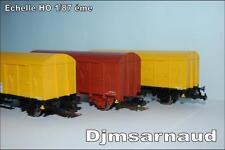 Set de 3 wagons Couverts à Essieux Marquage TSO PIKO 96624 éch HO