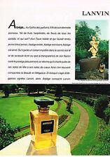 PUBLICITE ADVERTISING 045 1981  LANVIN  parfum ARPEGE  sac agneau souple