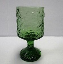LENOX Hand Blown Crystal Green Impromptu Textured Wine Glass Goblet 5 11/16""