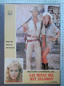 8 LOBBY CARD LAS MINAS DEL REY SALOMÓN RICHARD CHAMBERLAIN SHARON STONE RAROS