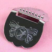 High Quality Brand Tailpiece Mandolin Guitar Scalloped Short Chrome Silver