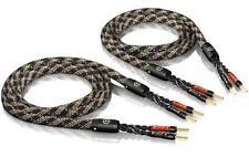 2 x 5,0m ViaBlue SC-4 single-wire Lautsprecherkabel crimped mit Aderendhülsen