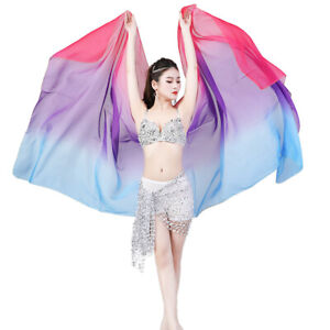 Belly Dancing Scarfs Accessories Bellydance Costumes Veil Gradient Color Shawls