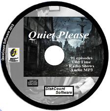 Quiet Please 91 Episodes Horror Old Time Radio - Audio OTR MP3 CD