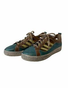 L'Artiste Turquoise & Brown Lace Up Oxford Porscha Size 41 US 9.5-10